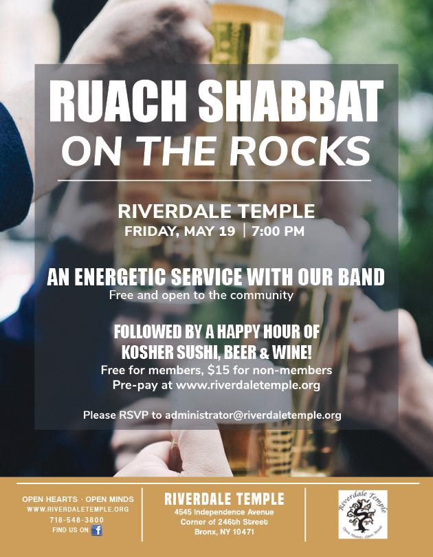 RuachShabbat RocksMay19 2