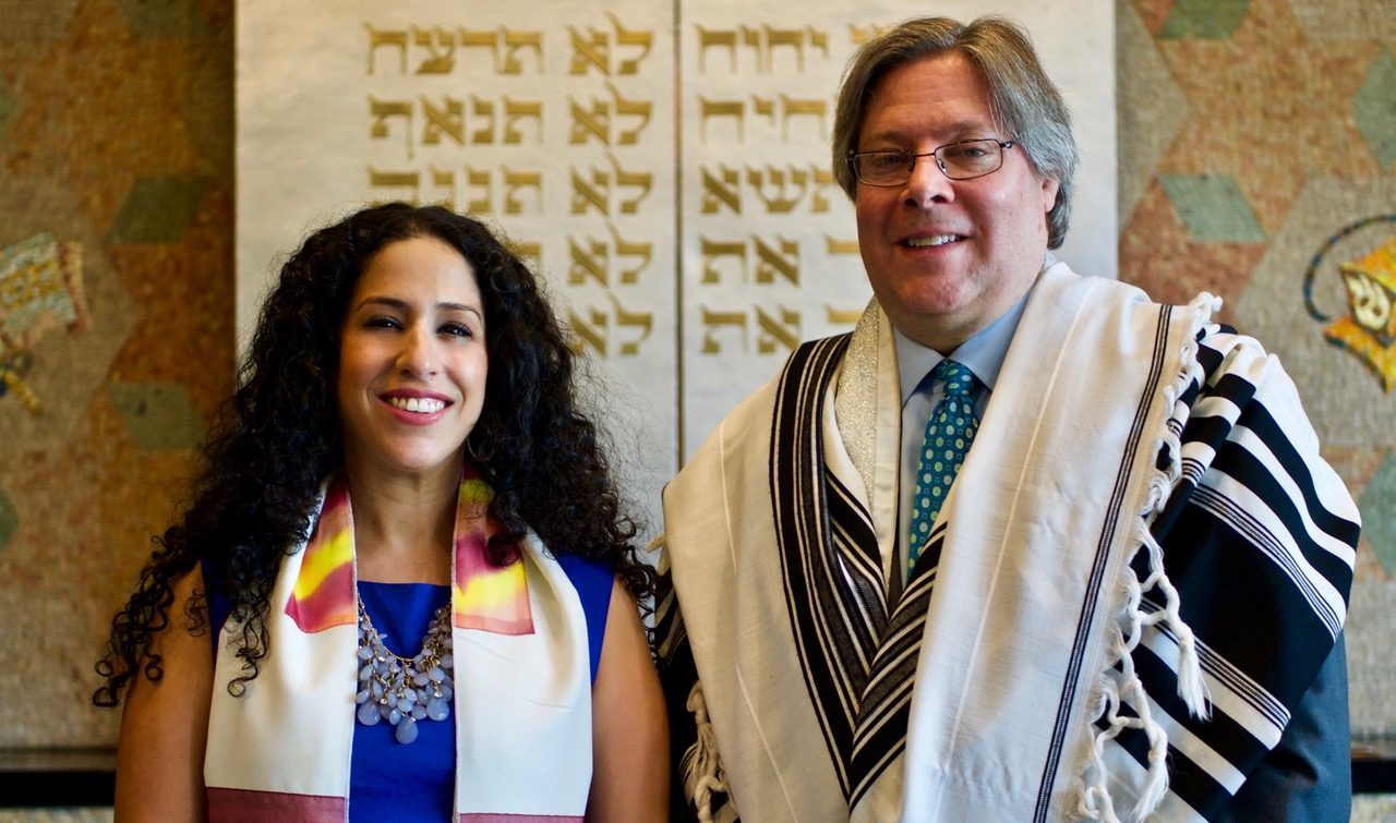 Meet Cantor Sharett-Singer and Rabbi Gardner.